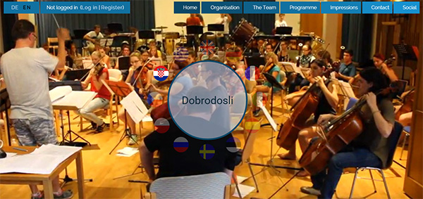 Website of the European Jazz and Pop Orchestra